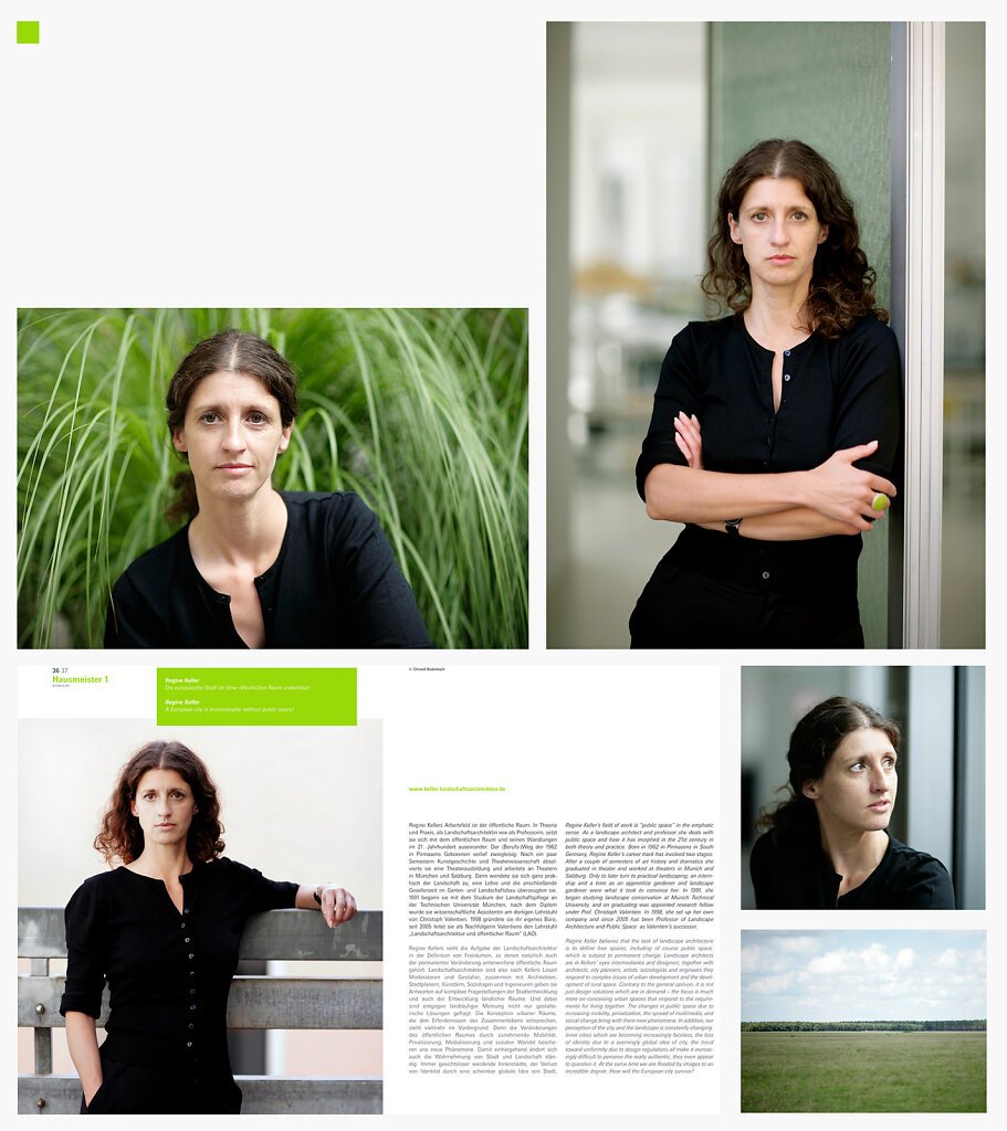 Portrait Regine Keller for »Outlook«